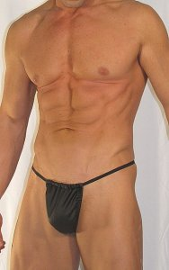 Buffedbod Faux Leather G String Swimwear SWG008