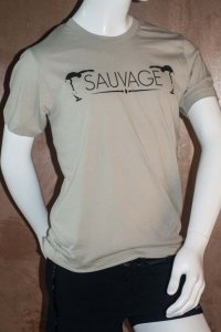 Sauvage Bend Short Sleeved T Shirt Silver