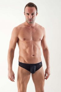 Geronimo Detachable Pouch Mesh Thong Underwear Black 1361S9