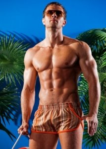 Alpha Male Stripe Square Cut Trunk Swimwear IMAGO3