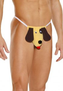Elegant Moments Dog Pouch Underwear Yellow 2908