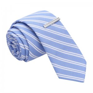 Skinny Tie Madness Don't Cross The Streams Striped Skinny Ti...