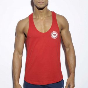 ES Collection Never Back Down Tank Top T Shirt Red TS171