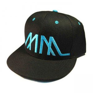 Marco Marco Embroidered MM Snapback Hat Blue