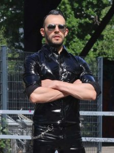 Mr Riegillio PVC Long Sleeved Shirt Black 408110