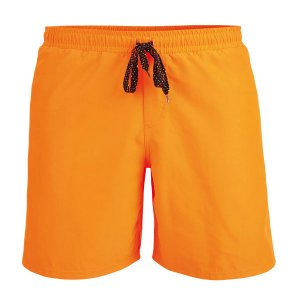 Litex Solid Mesh Lined Shorts Swimwear Neon Orange 93665