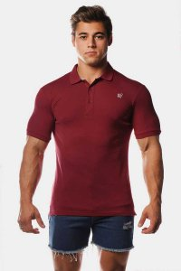 Jed North Premiere Polo Short Sleeved Shirt Maroon JNTOP017