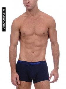 2(x)ist Essential No Show Trunk Underwear Blue 1033 USA2
