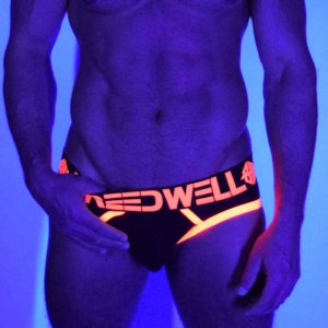Breedwell Blacklight Circuit Brief Underwear Neon Orange BW01512