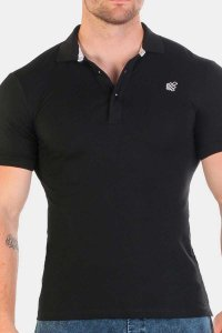 Jed North Premiere Polo Short Sleeved Shirt Black JNTOP017