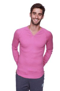 4-rth Thermal V Neck Long Sleeved T Shirt Berry