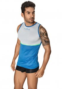 Clever Votix Tank Top T Shirt Blue/Grey 7023