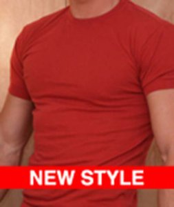 Ajaxx63 Athletic Fit Barefront Short Sleeved T Shirt Red BAS14
