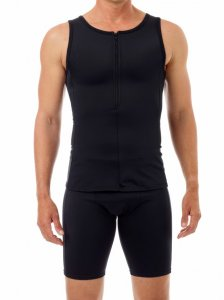 Underworks Shapewear Body Shaping Compression Tank Top Swimwear Black 918121