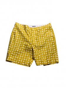 Breese Warriors Shorts Mustard WARMUS100