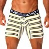 Agacio Stripes Long Leg Boxer Brief Underwear Yellow/Navy 5938