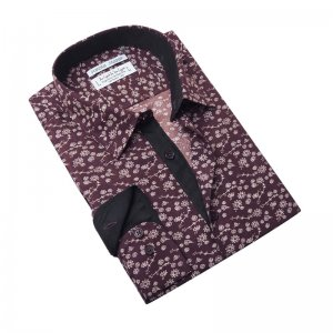 Jordan Jasper Flower Sketch Long Sleeved Shirt Brown JJ468