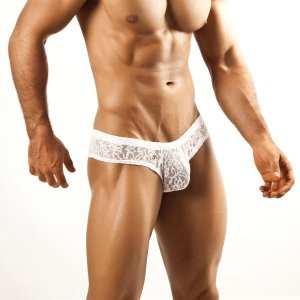 Joe Snyder Mini Cheek Boxer Brief 22 Lace White Underwear