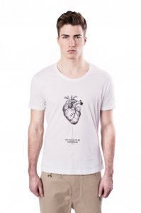 Sopopular Henry Printed Short Sleeved T Shirt White 3-12-001