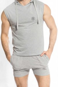 L'Homme Invisible Ben Hoodie Sleeveless Sweater Grey SP128-L...