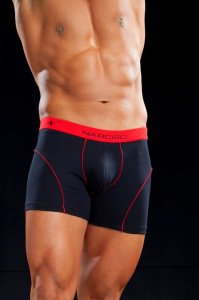 Narciso Boxer Brief Underwear NUBIA 06 BLACK/RED