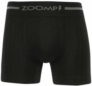 Zoomp Seamless Microfiber Boxer Brief Underwear Black 677-02