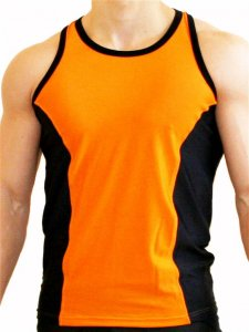 Good Boy Gone Bad Aron Training Tank Top T Shirt Orange/Blac...