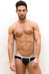 L'Homme Invisible Active U Front Brief Underwear Black MY38-ACT-001