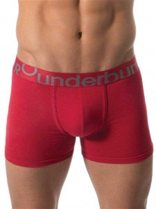 Rounderbum Padded Boxer Brief Underwear Heather Red JC01NHC