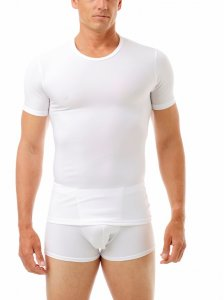 Underworks Shapewear Microfiber Light Compression Body Short Sleeved T Shirt White 498100