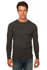 Royal Apparel Unisex Eco Triblend Heavyweight Thermal Long Sleeved T Shirt Eco Tri Charcoal 34152