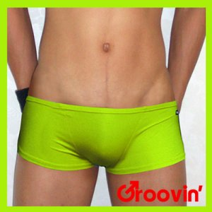 Groovin Super Extra Low Rise Boxer Underwear Green SE07