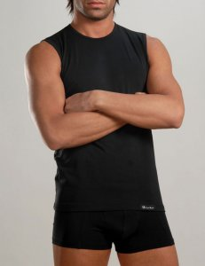 Geronimo Sleeveless Muscle Top T Shirt Black b24