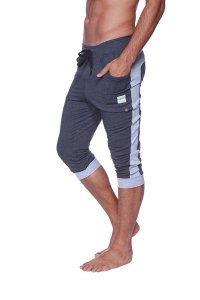 4-rth Cuffed Yoga 3/4 Pants Charcoal/Heather Grey