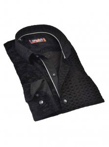 Spazio Probal Long Sleeved Shirt Black 13-W-1871