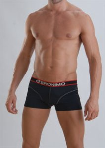 Geronimo Boxer Brief Underwear Black 834B1