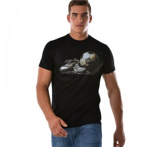 Roberto Lucca Sporty Short Sleeved T Shirt Black RL-219-00020