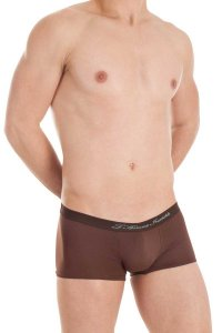L'Homme Invisible Sacher Hipster Boxer Brief Underwear Chocolate MY81B-EVO-019
