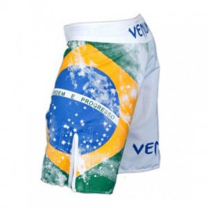 Venum Brazilian Flag Fight Boardshorts Beachwear White