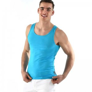 594687e2de8417 SPANX For Men Cotton Compression Tank Top T Shirt White 611   Buy ...
