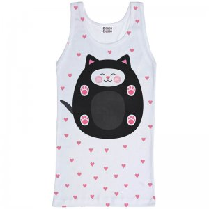 Mr. Gugu & Miss Go Soft Kitty Unisex Tank Top T Shirt TT728
