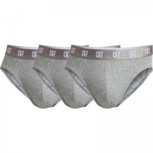 [3 Pack] CR7 Cristiano Ronaldo Basic Brief Underwear Grey 81...