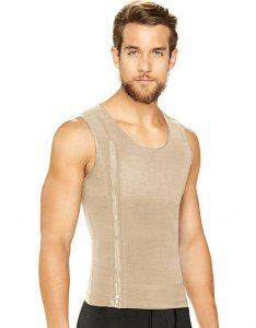 Diane & Geordi Zipper Shapewear Tank Top Beige 2415