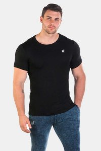 Jed North Magnificent Scoop Short Sleeved T Shirt Black JNTOP018