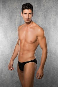 Doreanse Thin Waistband Slip Brief Underwear Black 1395