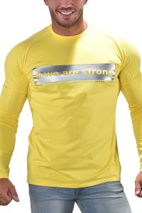 Roberto Lucca We Are Strong Sweat Long Sleeved T Shirt Yellow 10259-00170