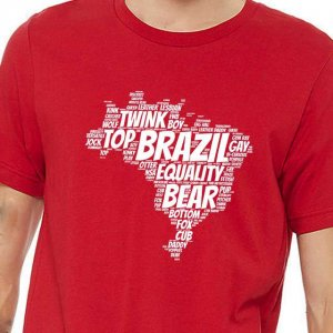 4 Labels Brazil Short Sleeved T Shirt Red/White