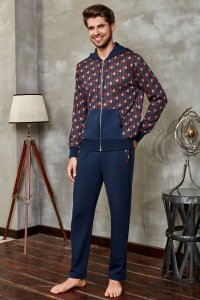 Doreanse Houndstooth Hooded Zipper Jacket & Pants Set Sports...