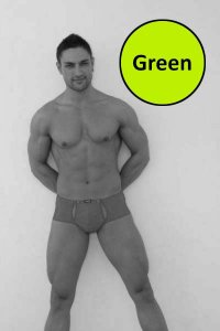 Lookme Under Pressure Snap Button Cut Out Shorty Boxer Brief Underwear Green 95-68