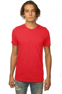 Royal Apparel Unisex Viscose Bamboo Organic Cotton Short Sleeved T Shirt Apple Red 73051